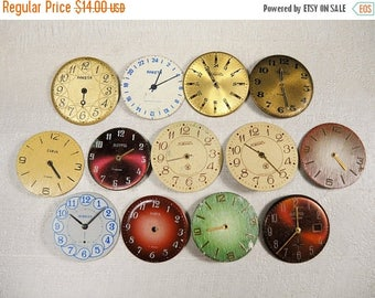 ON SALE Vintage Watch Faces - set of 13 - c108