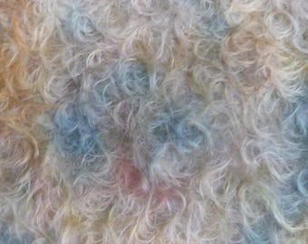 """Hand dyed Helmbold mohair fur fabric """"Autumnal"""""""