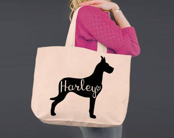 Great Dane | Tote Bag | Canvas Tote Bag | Beach Tote | Canvas Tote | Shopping Tote | Shopping Bag | Dog Tote | Korena Loves