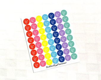 Bright and Warm Stethoscope Multicolor Icon Stickers, Doctor Appointment Reminder