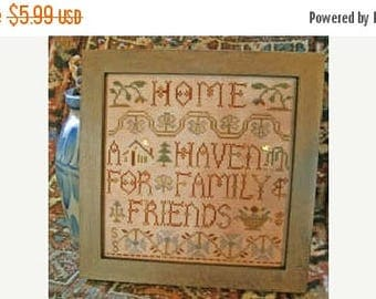 Fathers Day Sale Homespun Elegance Home A Haven Cross Stitch Pattern