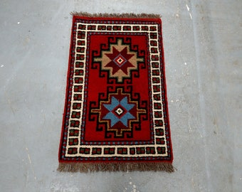 Persian Rug - 1980s Hand-Knotted, Vintage Ghouchan Rug Runner (3687)