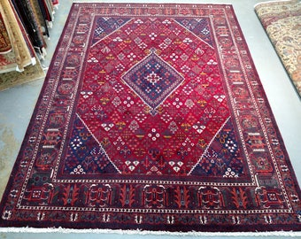 1990s Hand-Knotted Vintage Josheghan Persian Rug (3692)