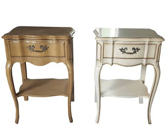 Customizable pair of French Provincial nightstands