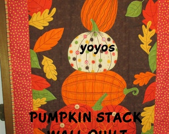 PUMPKINS, WALL QUILT, Pumpkin Stack, Fall Décor, Holiday Décor, Autumn, Thanksgiving, Gift for Women, Mothers Day, Birthday