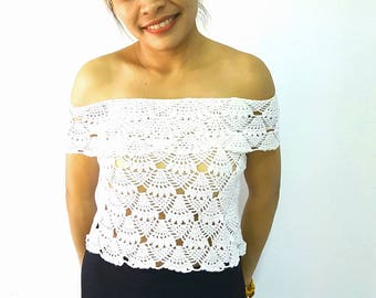 Crochet  top made to order Free shipping!!