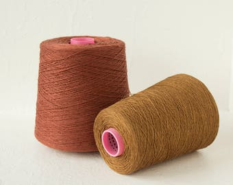 Pure Linen Yarn, 4ply linen yarn on cones for weaving- total 1.5kg / 52.5oz