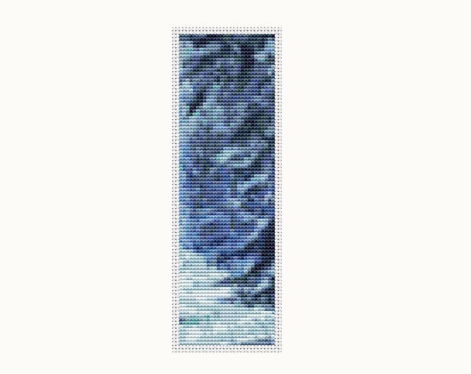Blue Winter Cross Stitch Pattern PDF, Instant Download (BK37)