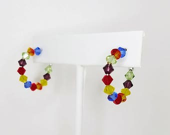 Swaroski Crystal Hoops 1/2""