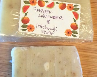 Lavender and patchouli soap bar