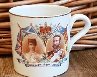 King George V Coronation Mug Samuel Ford & Co. 1911