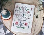Carte Postale à planter : Bonne fête Maman chérie - Papier ensemencé- carte de voeux - maman - 0 déchet - cadeau écologique - fête des mères