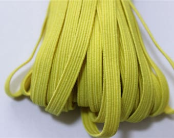 elastic Ribbon 5 meters flat yellow color
