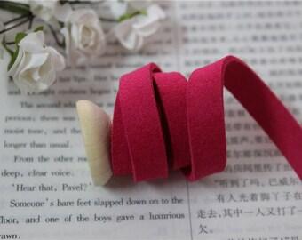 1 meter Ribbon suede color Fuchsia width 1 cm