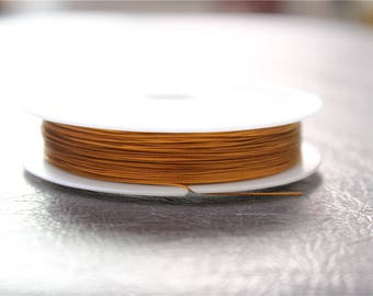 a reel 80 M old steel cable wire orange