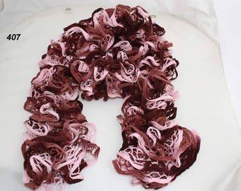 scarf ruffle NET color old rose/pink