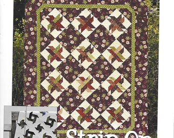 "STRIP ON quilts made from 1-1/2"" or 2-1/2"" strips by Gudrun Erla"