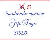 FALL SPECIAL, 15 Assortment of High Quality Handmade Gift Tags, Promo, Special, Assortment Gift Tags