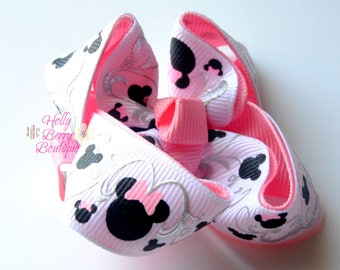 Minnie Mouse Swirls Basic Bow