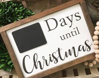Days until Christmas Countdown - Christmas countdown sign