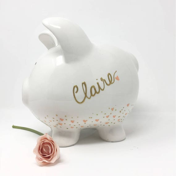Personalized baby gift piggy bank baby gift nursery like this item negle Images