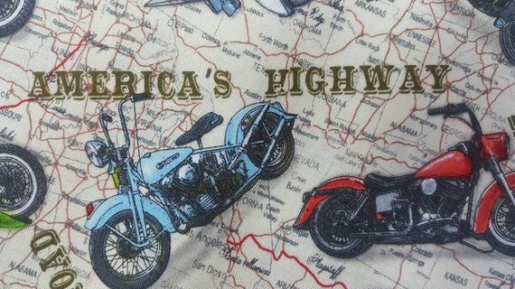 100% cotton Quilting fabric 1/2 yard motorcycle biker Harley : motorcycle quilting fabric - Adamdwight.com