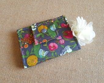 Small Women's Wallet, Small Bifold Wallet, Floral Wallet, Cute Wallet, Slim Wallet