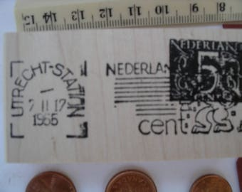 Nederland UTRECHT STATION   post postage stamp  Rubber stamp un-mounted or mounted scrapbooking rubber stamping journal