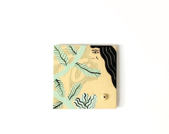 Jungle girl tile