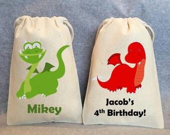 "10- Dragon Party, Dragon Birthday, Dragon Birthday party, Dragon party favors, Dragon party favor bags. 5""x8"""