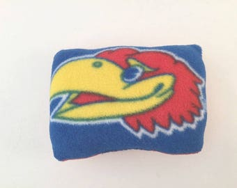 KU mini Pillow, University Kansas, KU Jayhawk, Kansas pillow, Jayhawk Pillow, Kansas Gift, KU Fan