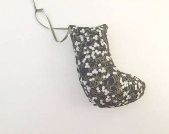 Hand Made Christmas Stocking Pillow Ornament