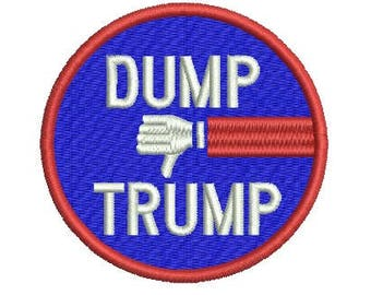 Dump Trump embroidery design