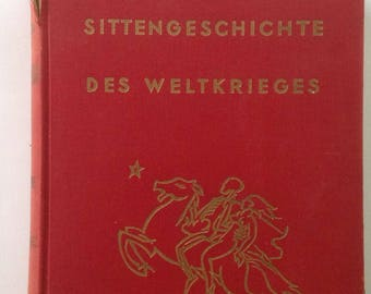 Vintage Book, German Erotica, Color Plates, Scholarly Work, Sittengeschichte, Des Weltkrieges, Volume 2, Hardcover, Collection, Research