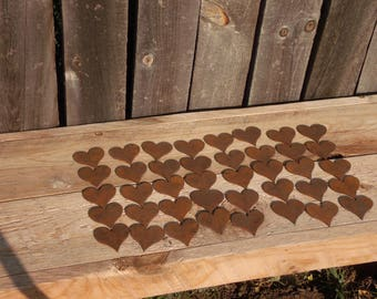 Metal  Hearts, lot of 40