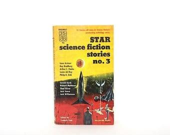 Star Science Fiction Stories No. 3 - Vintage Science Fiction Paperback Book - Vintage Sci Fi Book - Richard Powers Cover Art - Sci Fi Decor