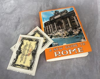 Vintage Rome Travel Guide Book - Vintage Rome Map Poster - Vintage Rome Tourist Map - Vintage Travel Decor - Old Travel Guide Book