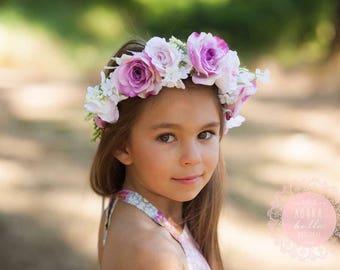 Violet Rose Flower Crown