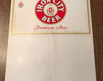 Vintage Iron City Beer Ad Sign