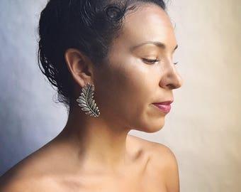 Sienna Silver Leaf Post Earrings