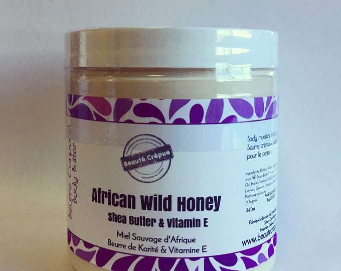 Deep Moisture Nourishing Body Cream with African Wild Honey, Shea Butter, Hemp Oil and Vitamin E, Skin Food - 250ml