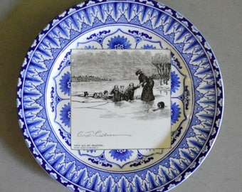 Royal Doulton Gibson Girl Plate, They All Go Skating