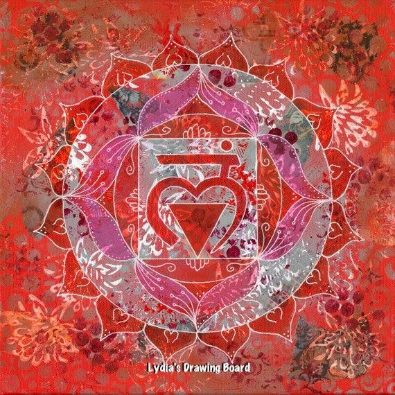 Mandala Wall Art, Mandala Print, Yoga Art, Yoga Studio Decor, Yoga Print, Chakra Art, Mandala Art, Spiritual Art, Meditation, Chakra Set