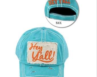 Hey Y'all Baseball Hats