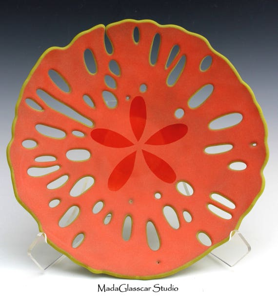 Orange Sand Dollar Bowl