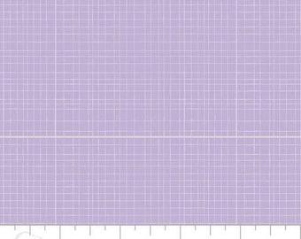 Baby bed skirt, crib skirt, lavender grid