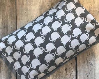 Baby buckwheat scales pillow, grey elephants