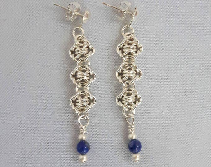 Blueberry Ice Earrings (Post and Nugget Style)