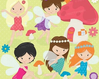 80% OFF SALE fairy clipart commercial use, vector graphics, digital clip art, digital images  - CL513