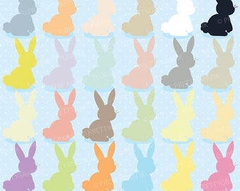 80% OFF SALE bunny rabbit clipart commercial use, vector graphics, digital clip art, digital images - CL508